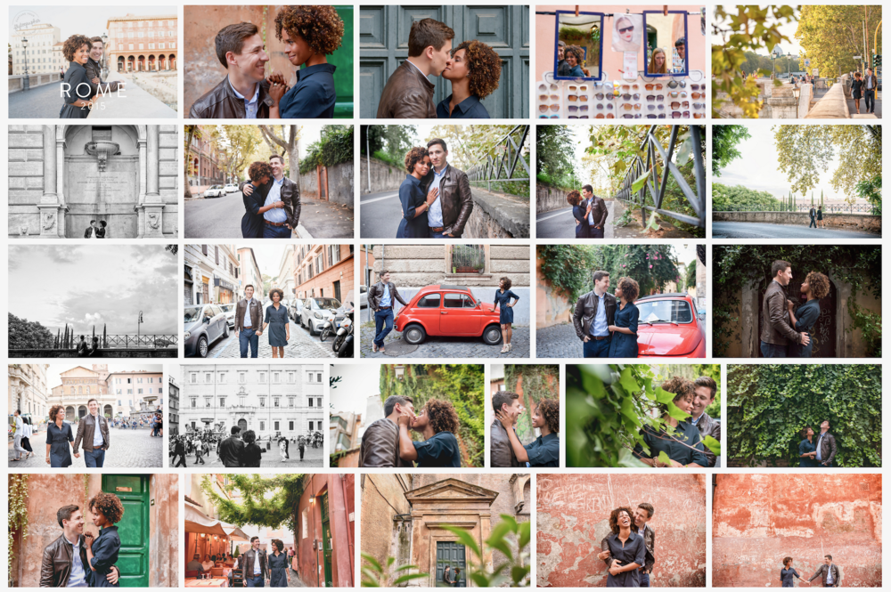 Click here  to read the blog post on this couple's sweet honeymoon story in Rome. Flytographer: Roberta in Rome