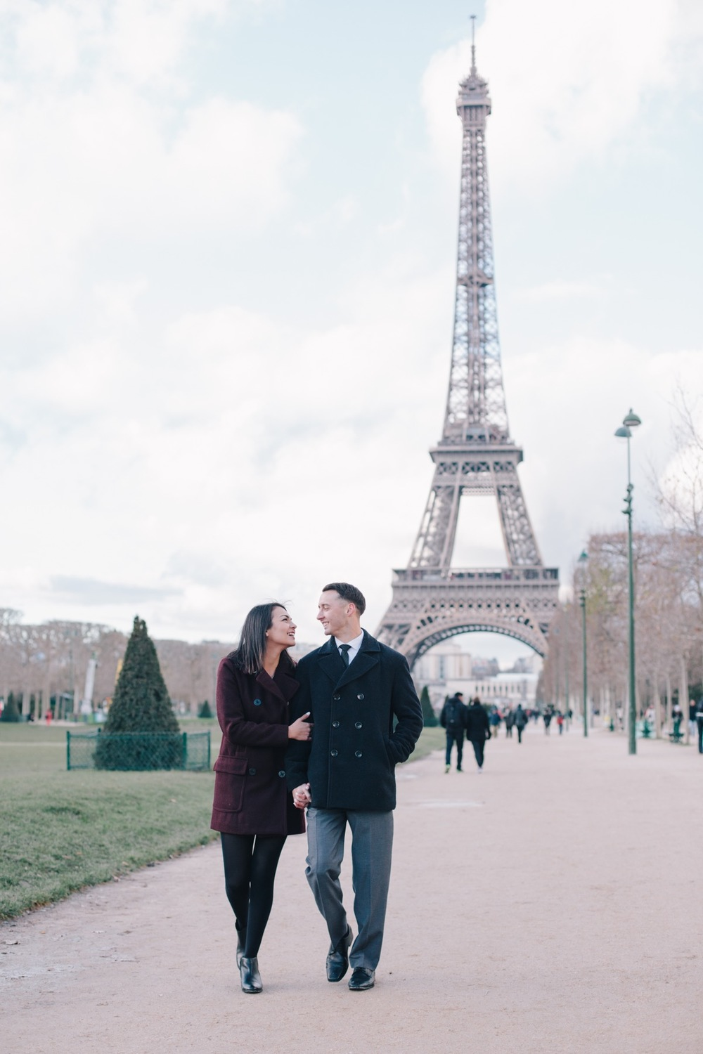 Romantic Paris Engagement Shoot | Paris Vacation Photographer Flytographer