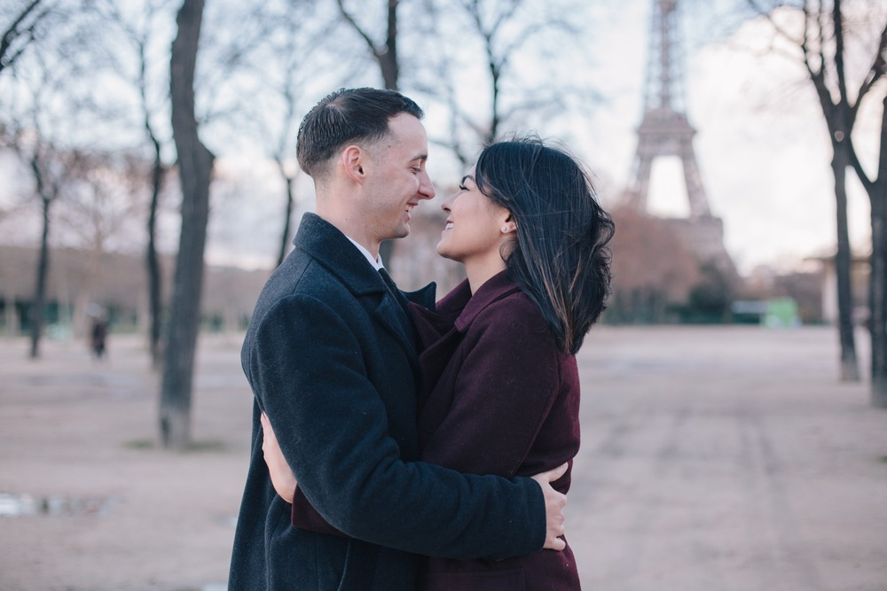 Romantic Parisian Engagement Shoot | Vacation Photographer Paris Flytographer
