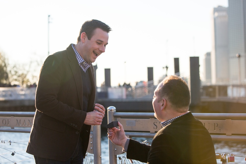 Sweet LGBTQ Surprise Proposal in NYC | New York City Proposal Photographer