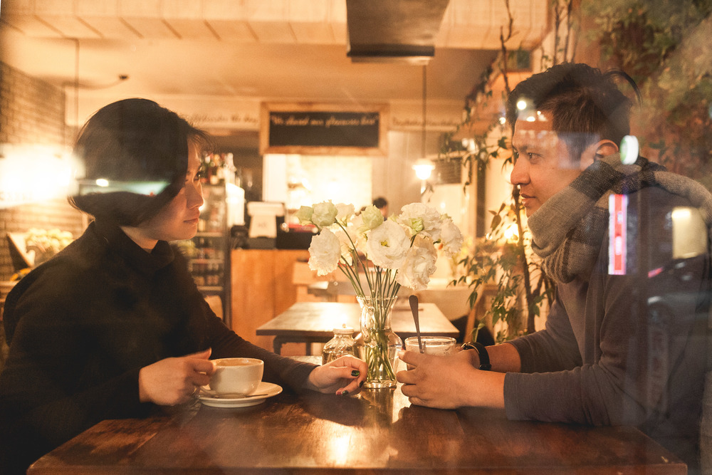 Location: Hongdae Café, Flytographer: Robert in Seoul