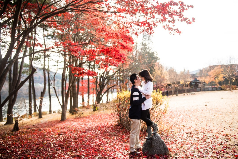 Location: Nami Island, Flytographer: Allen in Seoul