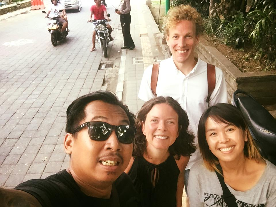Tara, our Creative Director, and her husband (centre) enjoyed time with Bayu & Vony in Bali.
