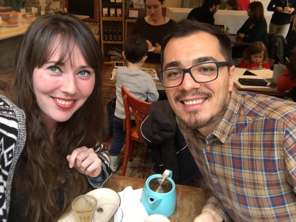 Krystal and Ciprian get together over a cup of tea in Paris.