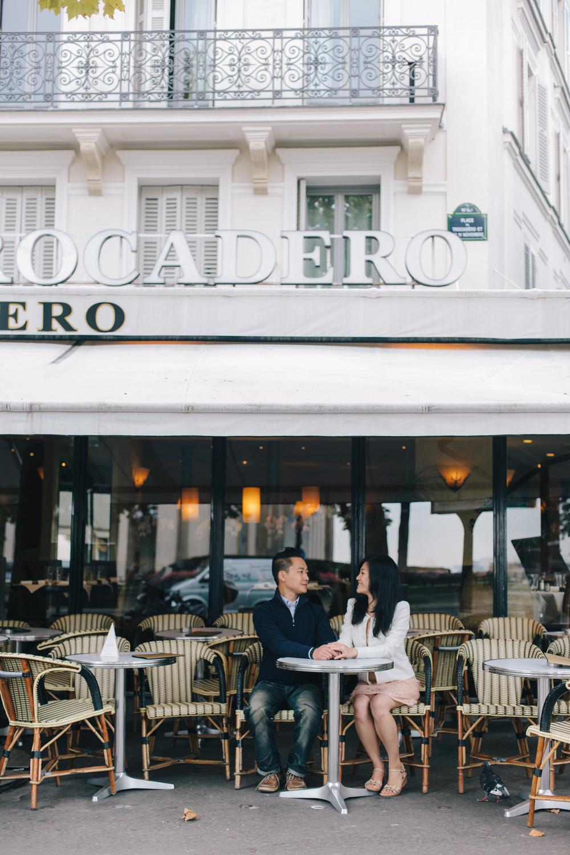 Surprise Paris Proposal on Trocadero | Paris Proposal Photographer Flytographer