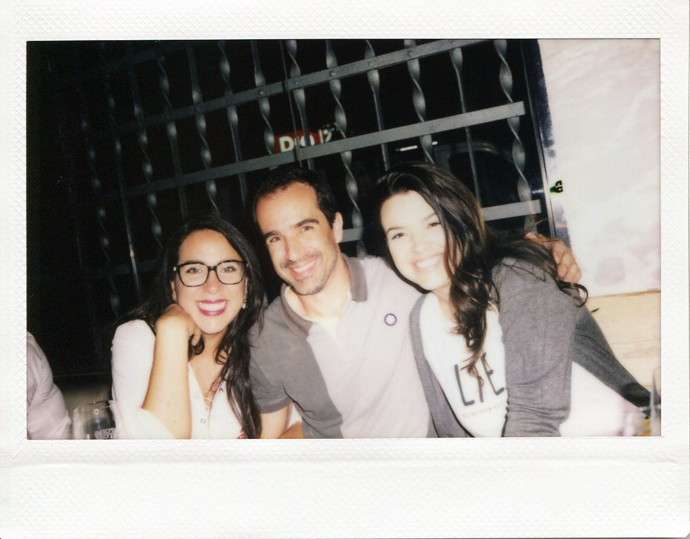 Marian, Gonçalo B & Vanessa. Captured on polaroid by Mankica