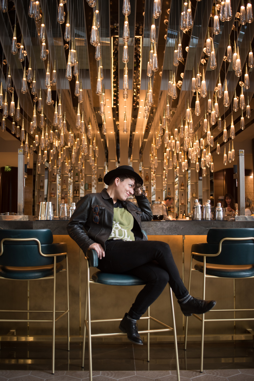 We love Roberta's style! In the Fairmont's renovated lobby. Captured by Francisco