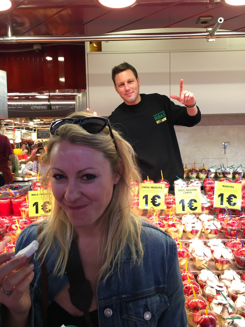 Erin's market stall photo-bomber. Captured by Krystal