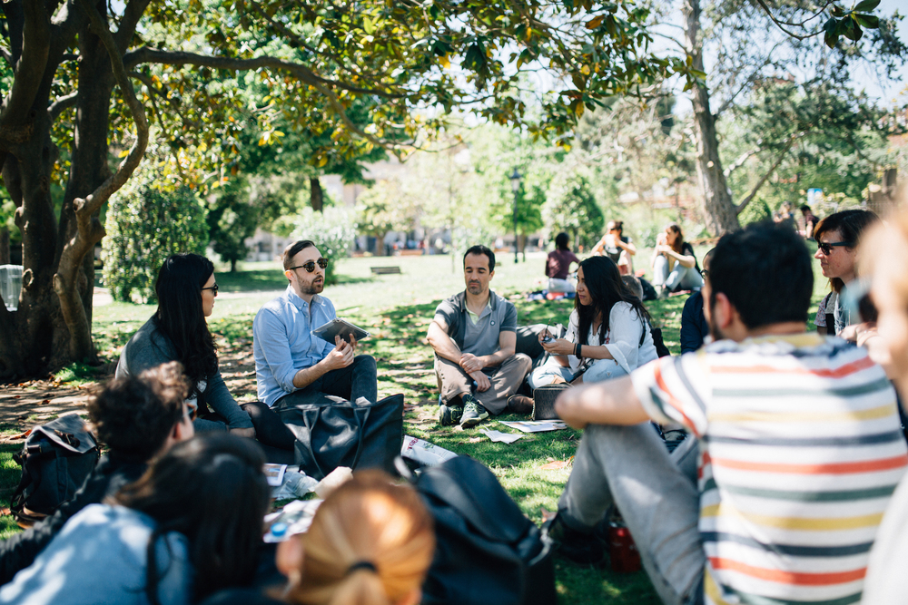 Johnny from NYC leading a workshop in the park. Flytographer: Natalie