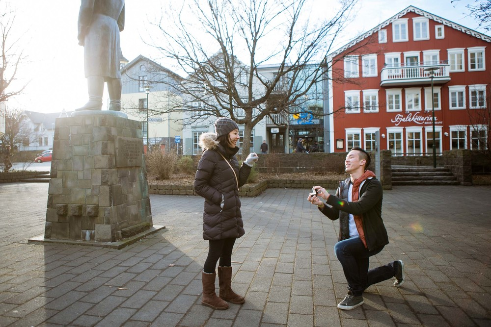 Reykjavik proposal photographer