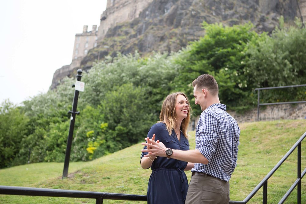 Edinburgh proposal photographer
