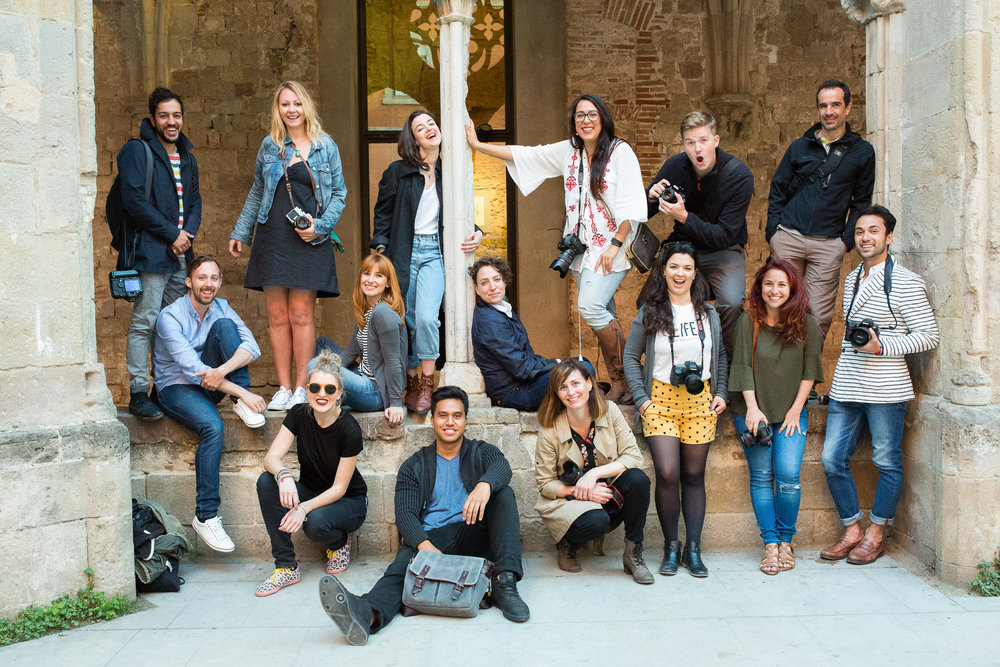 Group photo taken on a photowalk during our Global Meetup in Barcelona, May 2016