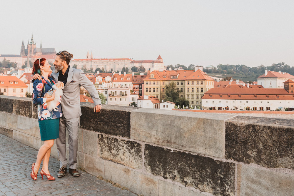 Prague Proposal Photographer Charles Bridge