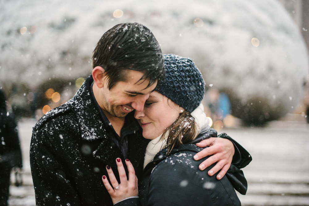 surprise proposal photographer chicago flytographer