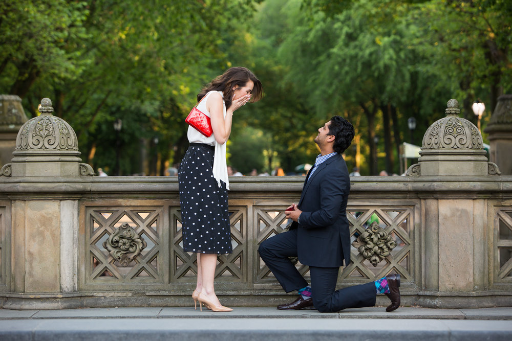 surprise proposal photographer new york city flytographer