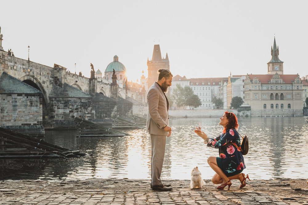 prague surprise proposal photographer flytographer