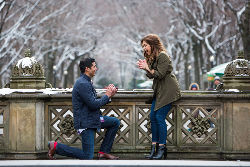 nyc surprise proposal photographer flytographer