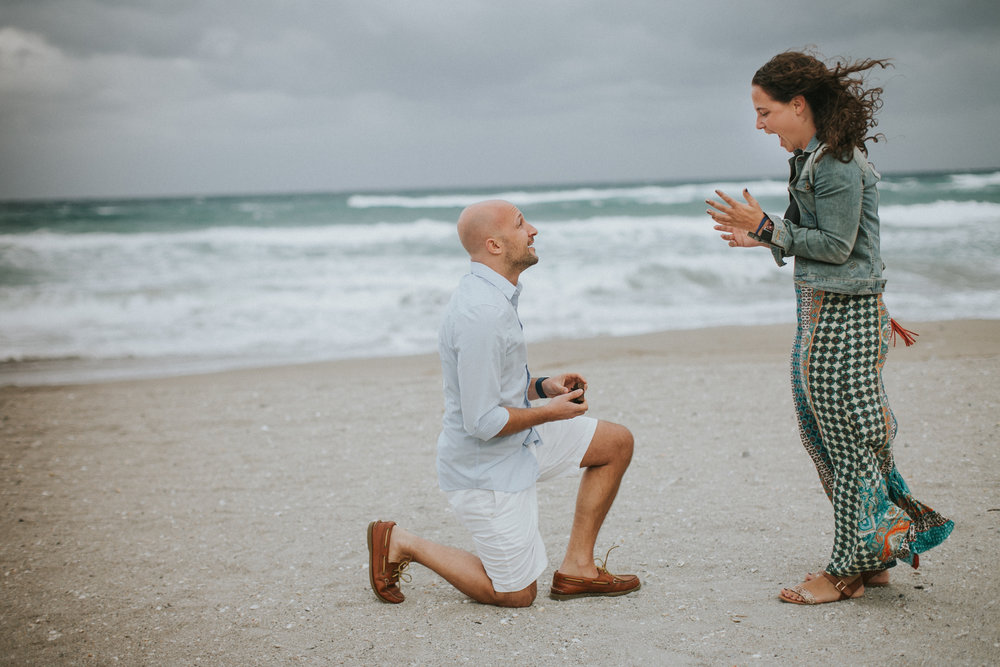 palm beach surprise proposal photographer flytographer