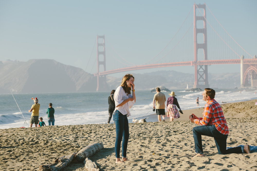san francisco surprise proposal photographer flytographer