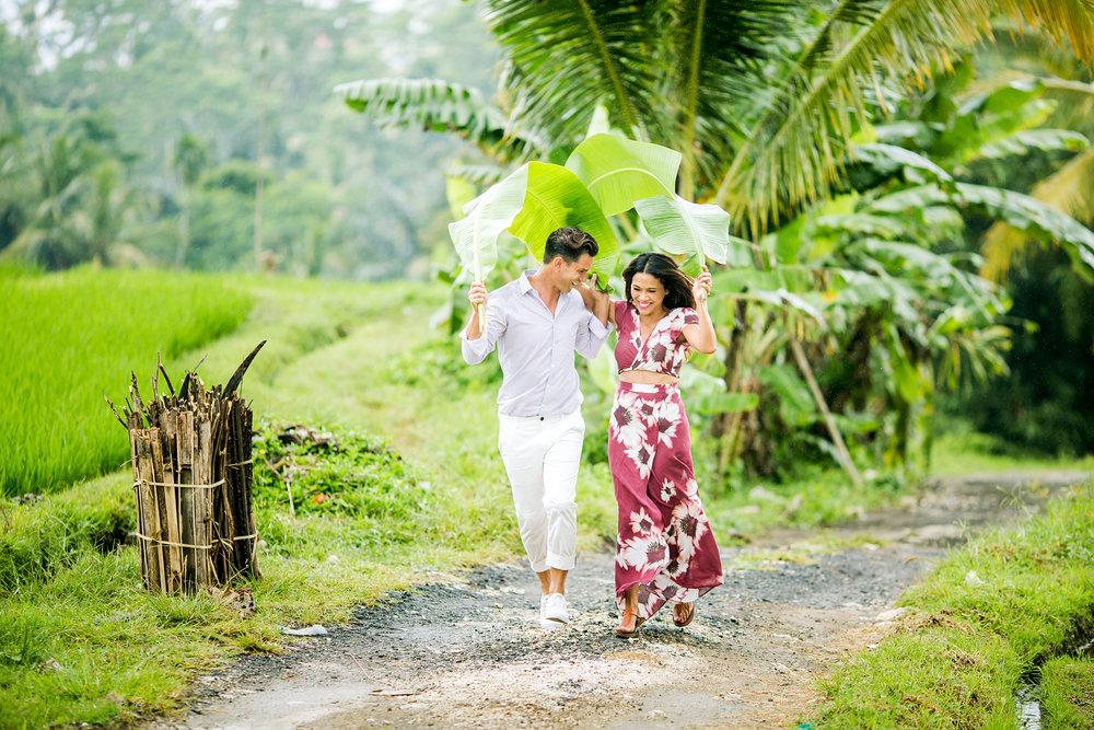 Bali honeymoon photographer flytographer