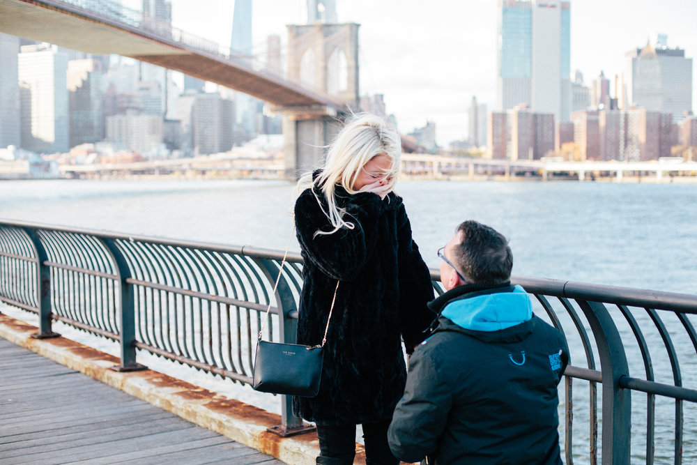 NYC proposal photographer flytographer