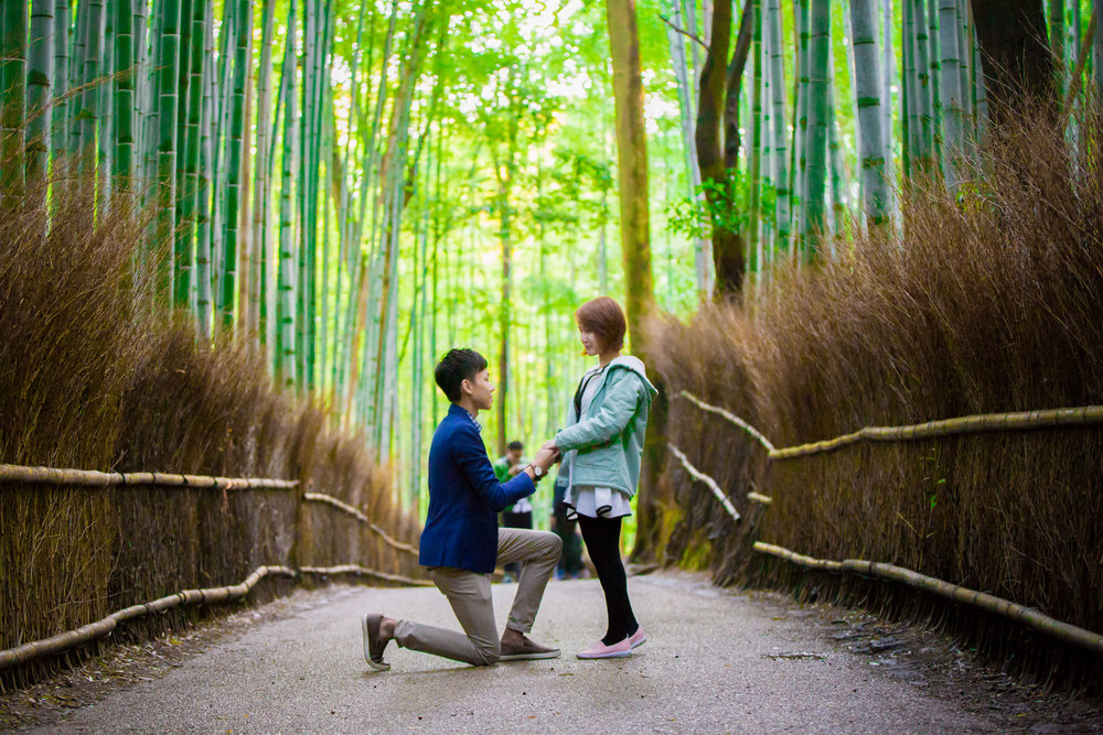kyoto proposal photographer flytographer