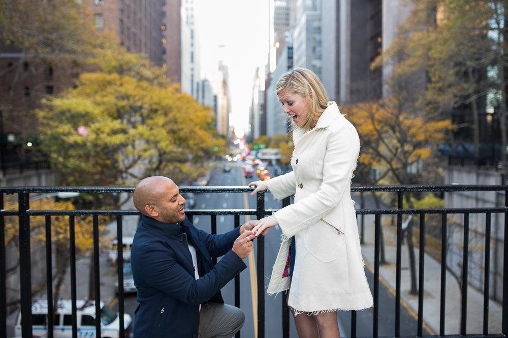 new york city proposal photographer flytographer
