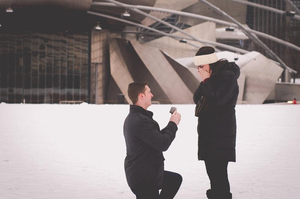 chicago surprise proposal photographer flytographer