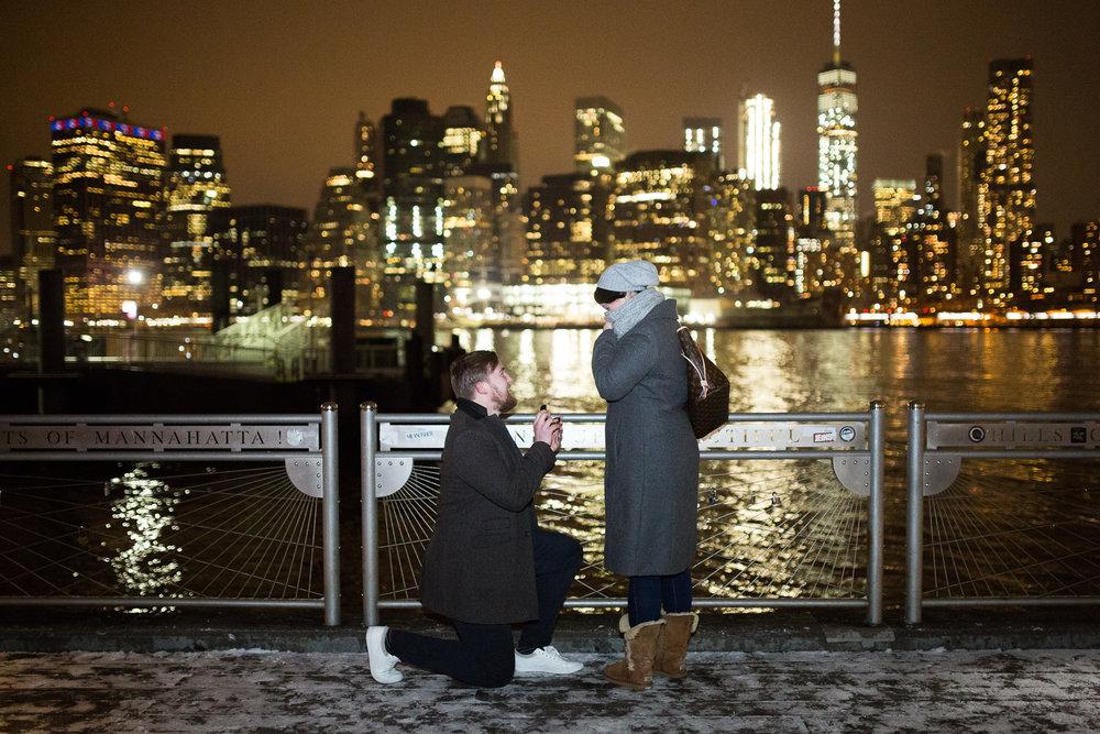 new york city proposal photographer DUMBO flytographer