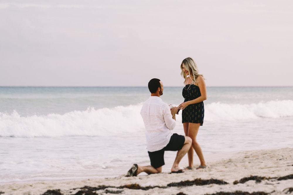 mexico beach proposal photographer flytographer