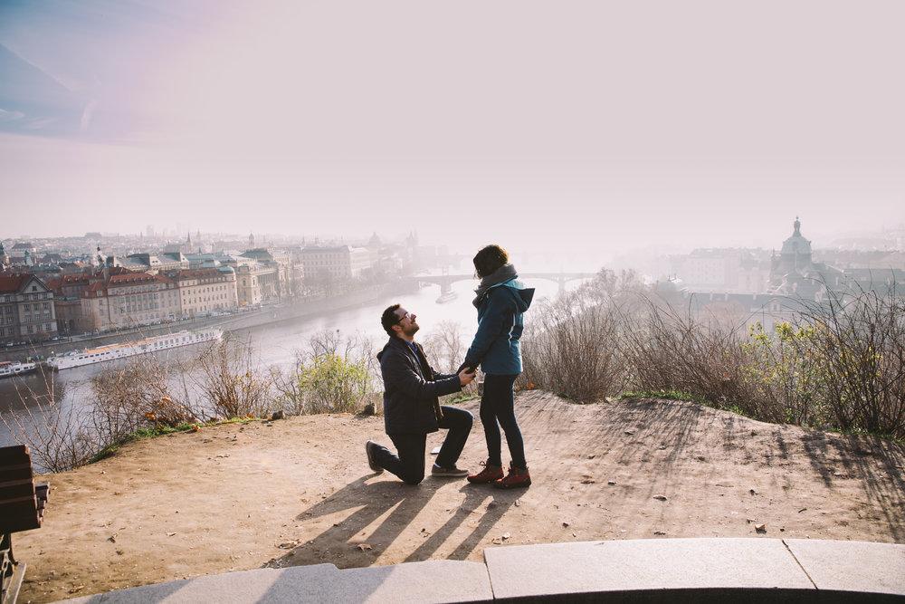 prague proposal photographer flytographer