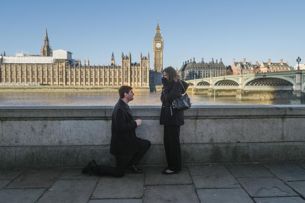 london surprise proposal photographer flytographer