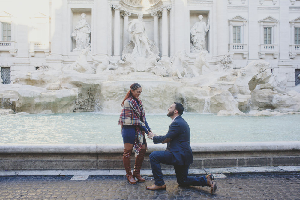 Rome proposal photographer Flytographer