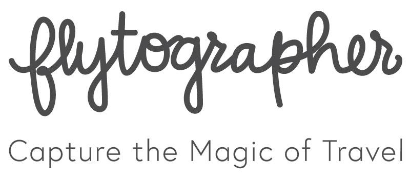 Flytographer script logo grey