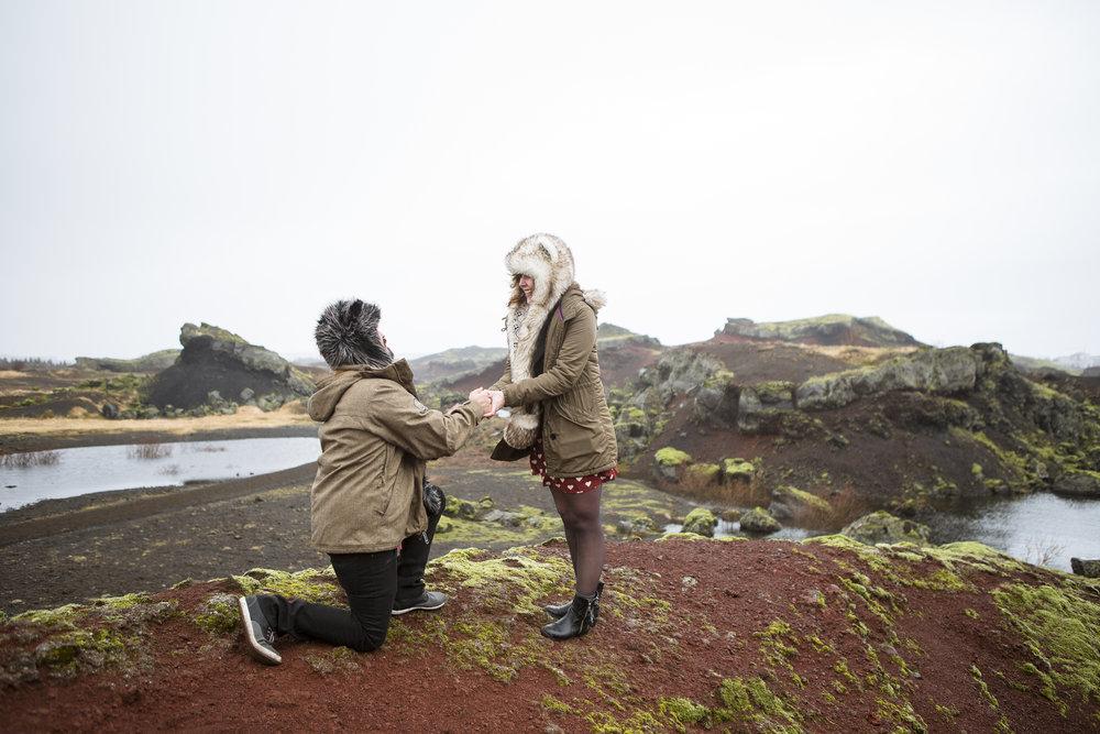 Reykjavik proposal photographer