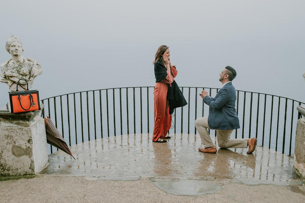 Amalfi Coast, Italy Proposal Photographer - Flytographer