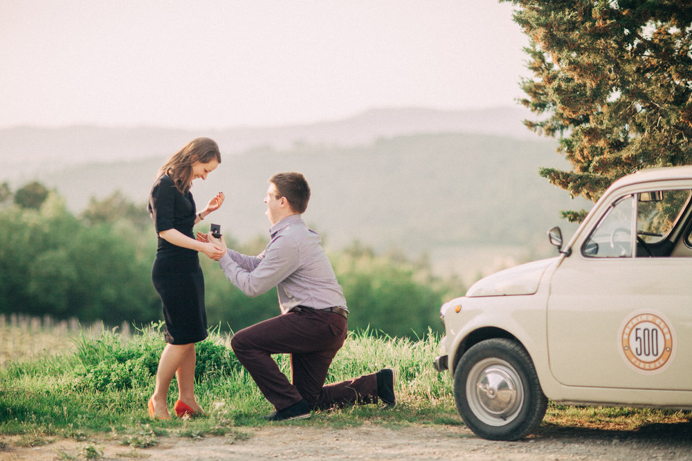 Florence and Tuscany, Italy Proposal Photographer - Flytographer