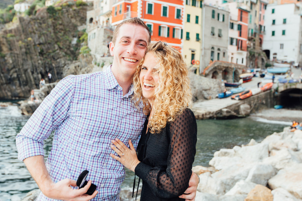 Cinque Terre, Italy Proposal Photographer - Flytographer