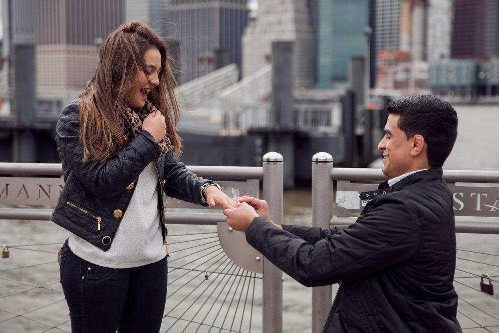 New York City, USA Proposal Photographer - Flytographer