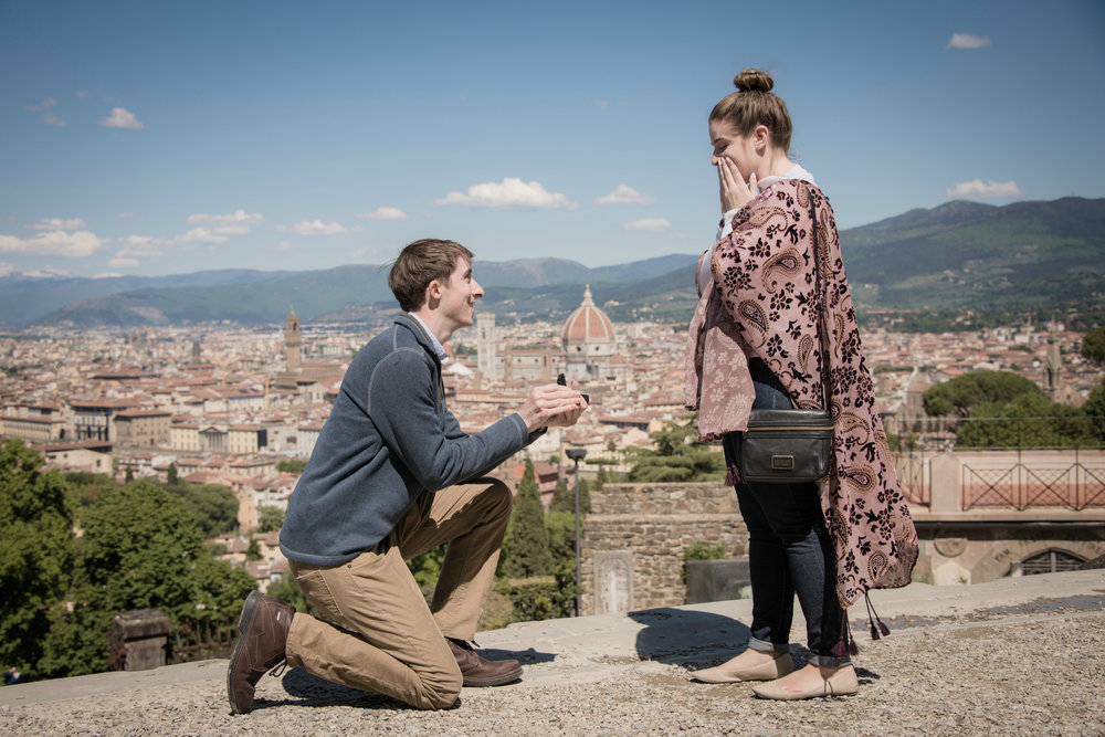 Florence Proposal Photographer - Flytographer