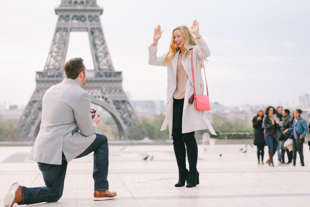 Paris Proposal Photographer - Flytographer