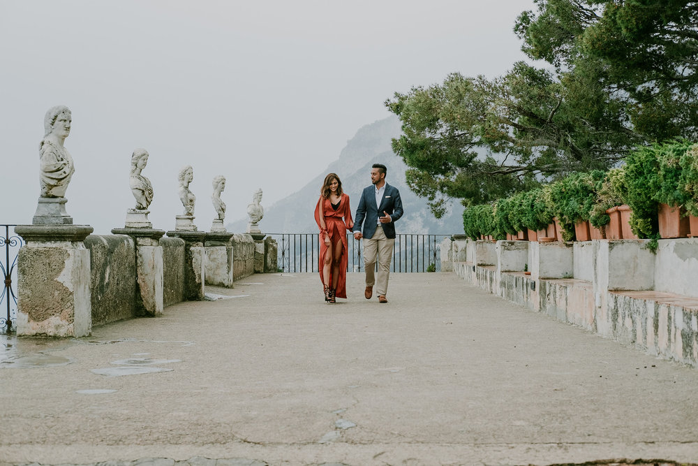 Flytographer: Mary & Maurizio in Amalfi Coast