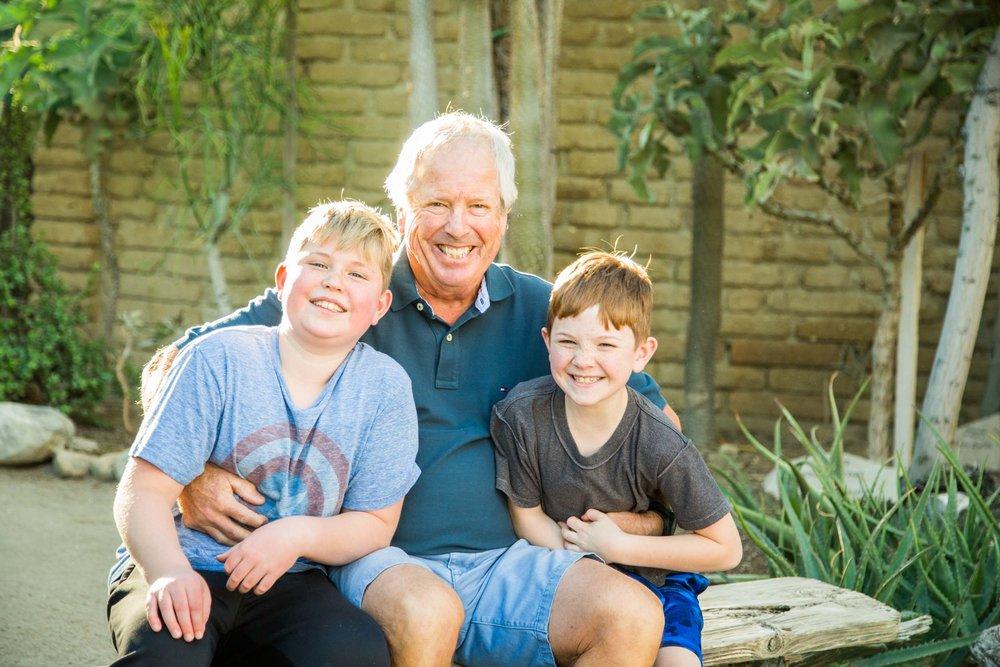 The McCracken family in Palm Springs Flytographer Ashley