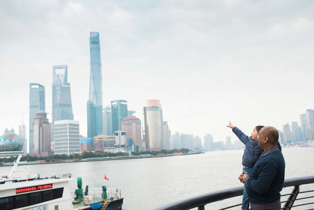 The Ahmad family in Shanghai Flytographer Erica