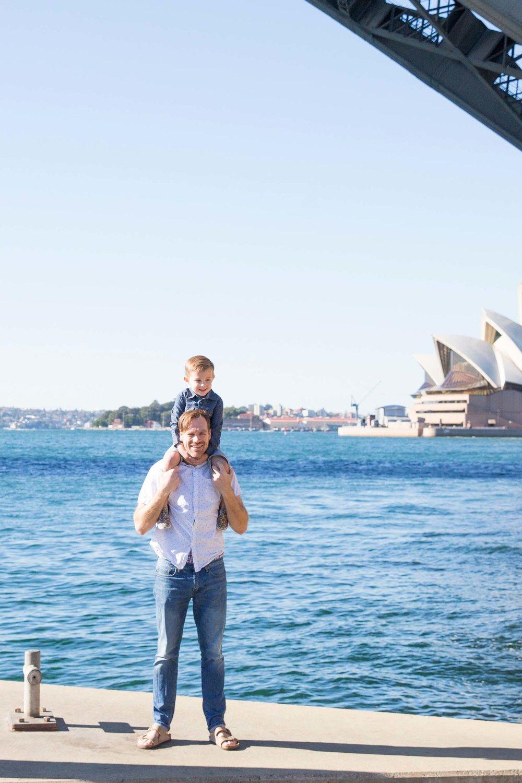 The Allen family in Sydney Flytographers Sarah & Stephen