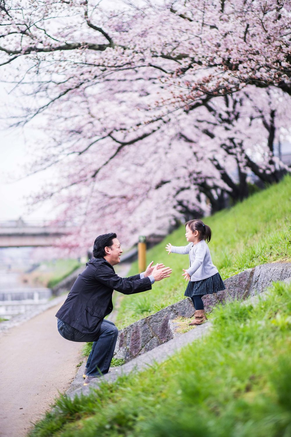 The Liu family in Kyoto Flytographer Lucas