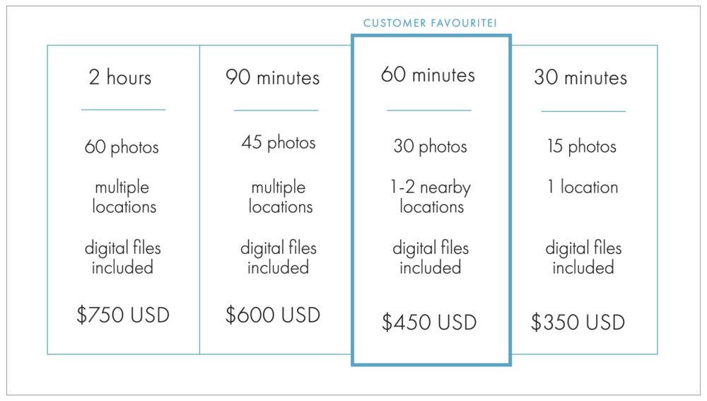 Flytographer proposal photographer pricing