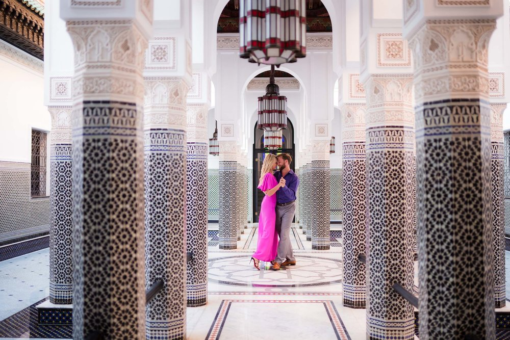 Check out these romantic Marrakesh honeymoon photos on the Flytographer blog and get inspired for a Moroccan getaway! | Travel + Vacation Photographer | Family Vacations | Engagement Proposals | Honeymoons | Anniversary Gifts | Bachelorette Ideas | Solo Traveller Tips |  Flytographer captures your travel memories - everything from surprise proposals, honeymoons, family vacations, and more. So often you are missing out of your own photos! Flytographer solves that problem for you. Our photographers also act as informal tour guides and provide fun local tips to our customers, showing them an area of a city they may not have explored without Flytographer. Book your photographer at 1.888.211.7178 or visit our website at www.flytographer.com/book
