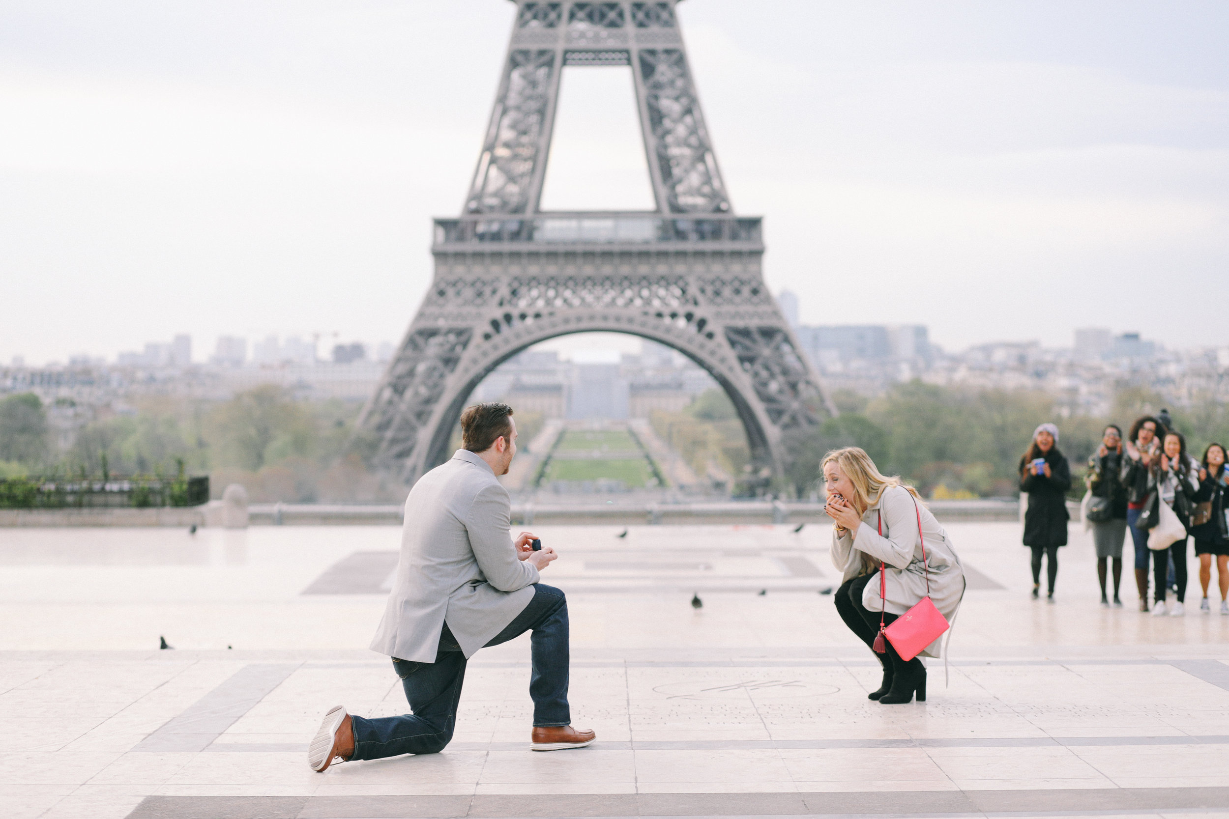 An Eiffel Tower Surprise Proposal in Paris with a ...