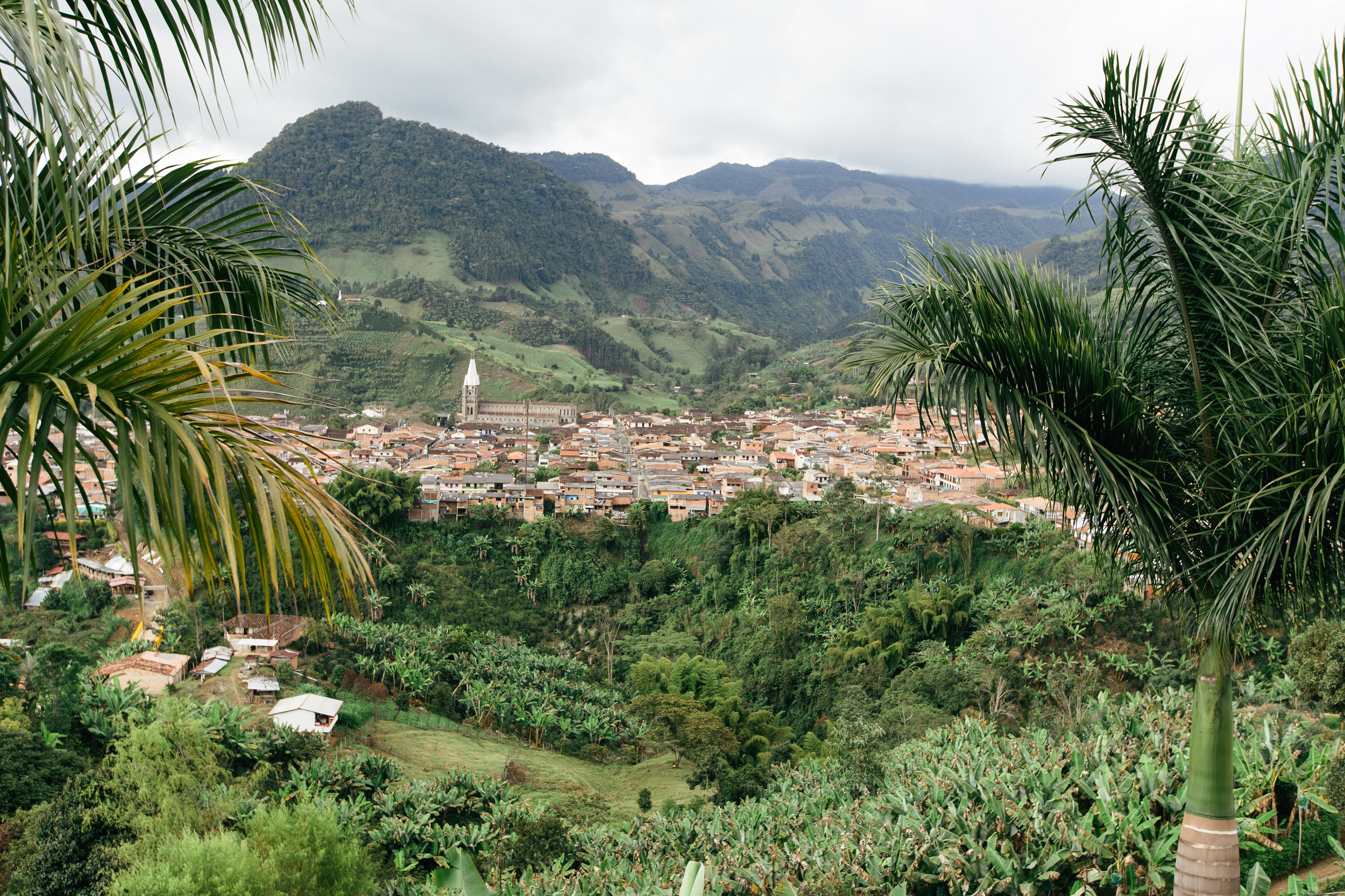 View of Jardín, a pueblo about a 3-hour drive from Medellín.